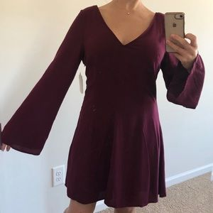 Altar'd State | Purple Bell Sleeve Casual Dress M